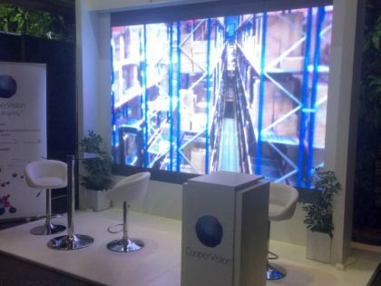 CooperVision : Stand Pantalla Gigante