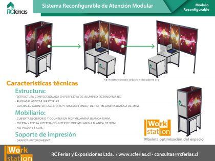 Sistema reconfigurable WORK·STATION